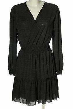 RESERVED Abito blusa nero-bianco motivo astratto stile casua
