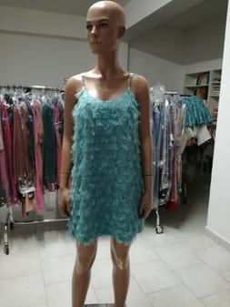 Abito Vestito PDK Colore Tiffany Taglia L Cerimonia Party Pr