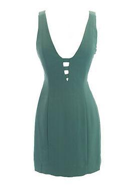 Vena Cava Damen Meerschaum Moos Lattice-Back Bodycon Kleid 2
