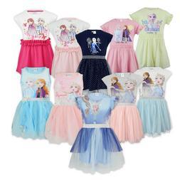 Frozen II Disney - Vestito Abito Maniche Corte Cotone - Elsa