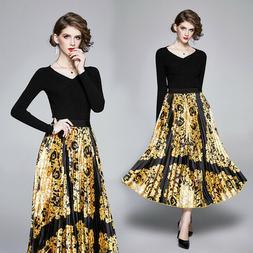 Elegante vestito abito nero oro completo tailleur gonna cami