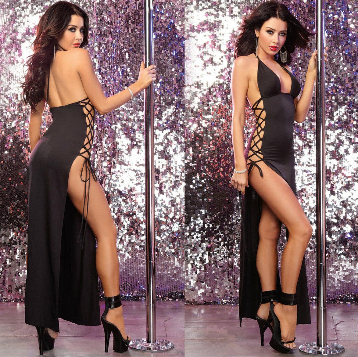abito vestito gonna lunga spacco laterale aperto