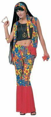 Costume Carnevale Donna Figli Dei Fiori, Festa Anni 60 PS 21