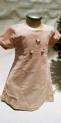 Vestito abito CHICCO bambina neonata 18 mesi cerimonia batte