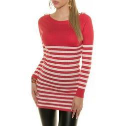 Maglione donna pullover lungo vestitino in maglia maniche lu