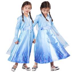Nuovo Ragazze Deluxe Elsa Disney Frozen 2 Costume