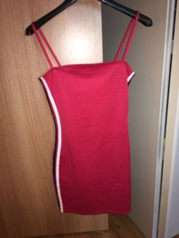 Vestitino Tubino Sportivo Estivo Donna Attillato Rosso