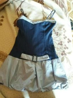 Vestito ARTIGLI Mini Gonna Blu Navy Striped Righe S