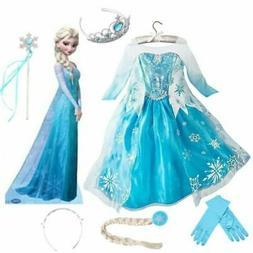 vestito regina frozen carnevale elsa costume carnevale